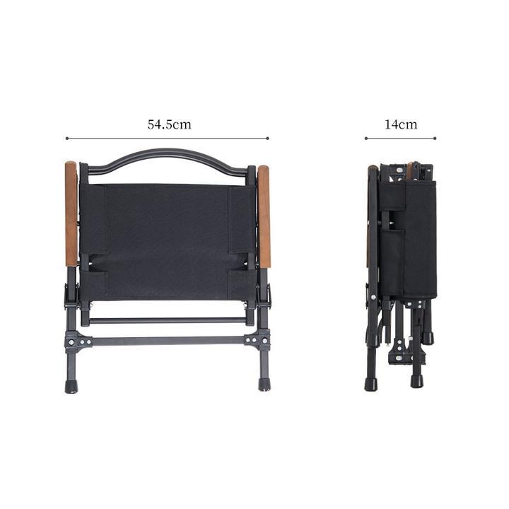Kích thước của ghế xếp đen Naturehike NH21JJ002 bằng nhôm