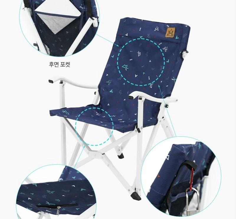Các chi tiết ghế xếp cắm trại Kazmi K20T1C020 bằng nhôm rất cẩn thận và chi tiết