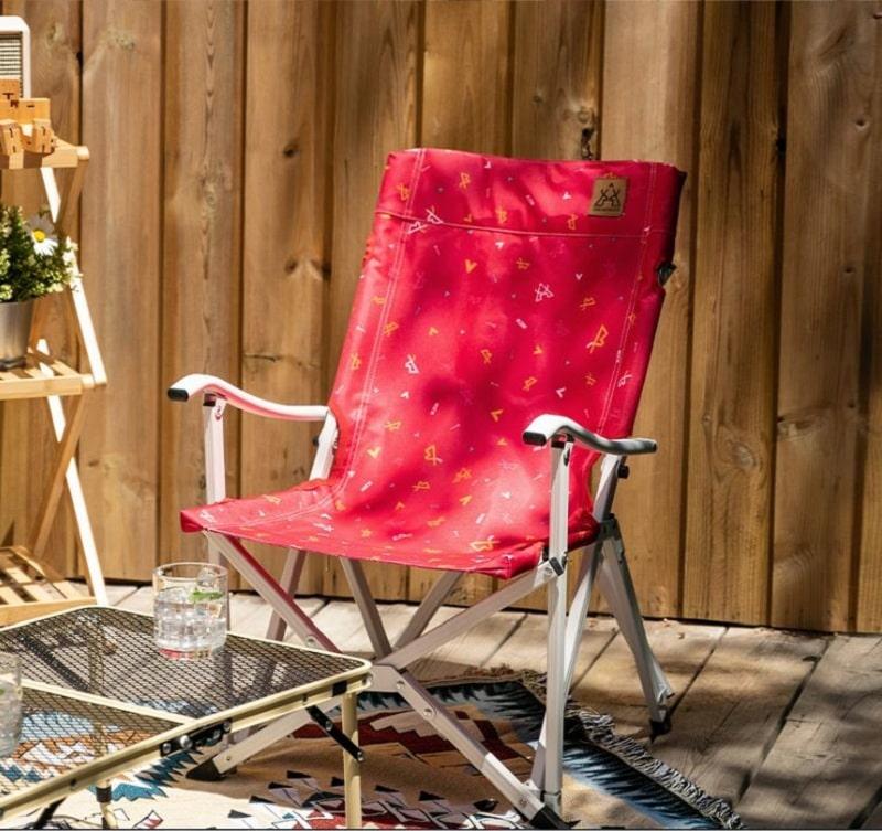 Ghế xếp cắm trại Kazmi K20T1C020 bằng nhôm màu đỏ