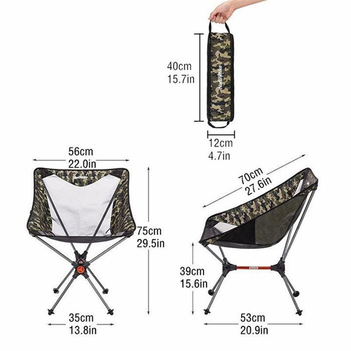 thiết kế của ghế xếp lưới Naturehike NH19JJ005 rất tiện gọn