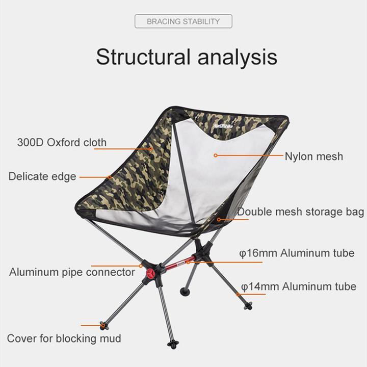 Ghế xếp lưới Naturehike NH19JJ005 bằng vải 300D dày dặn bền chắc