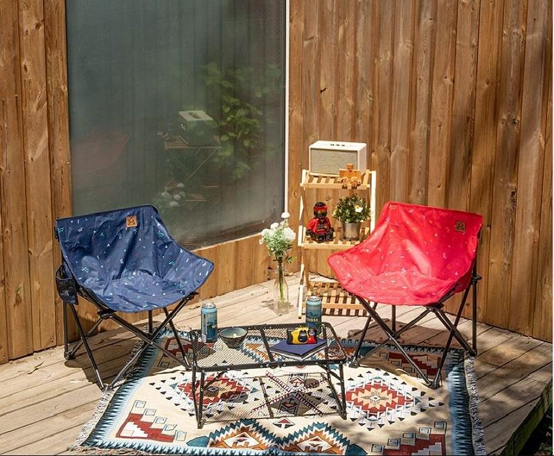Thiết kế ghế xếp ngoài trời Kazmi K20T1C018 bằng thép chắc chắn