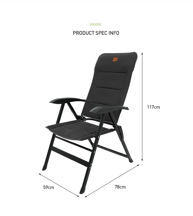Kích thước ghế xếp thông minh KAZMI K20T1C027 bằng nhôm