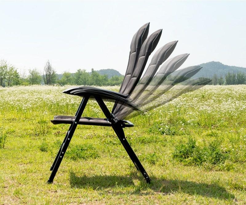 Thiết kế ghế xếp thông minh KAZMI K20T1C027 với nhiều tư thế ngả khác nhau