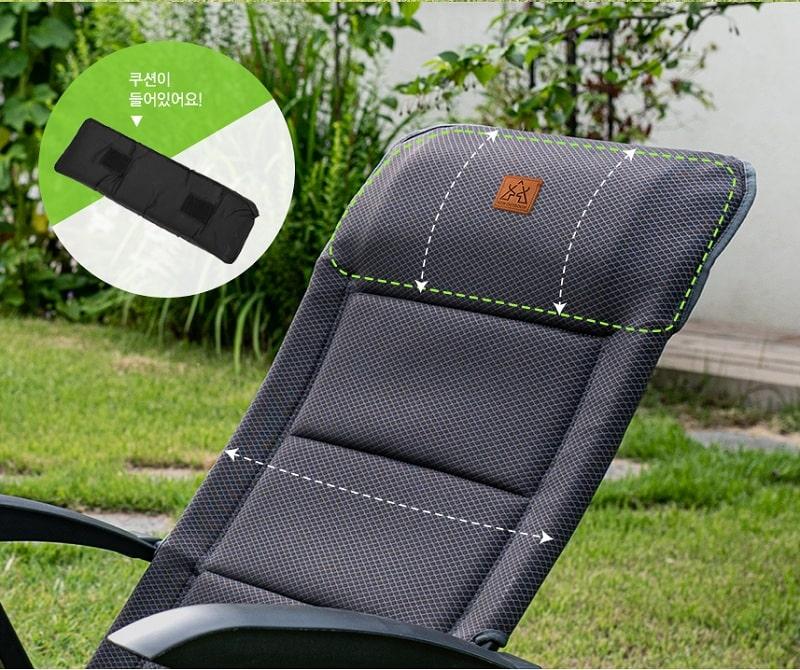 Phần tựa đầu nhô cao của ghế xếp thông minh KAZMI K20T1C027