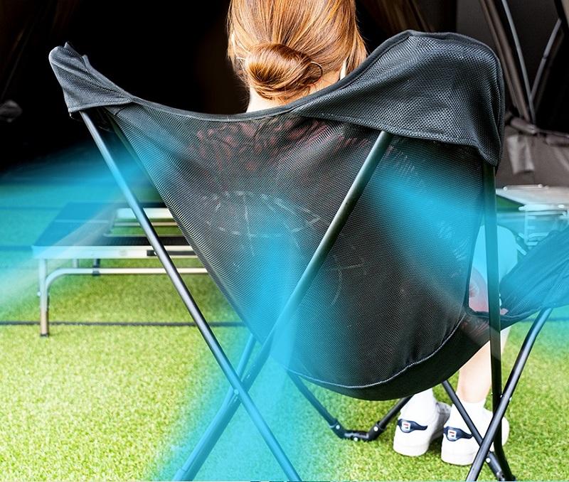 Ghế xếp tiện lợi Kazmi K20T1C30 luôn tạo sự thoải mái cho người ngồi