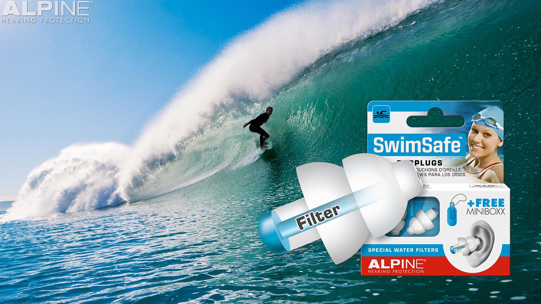 bịt tai bơi Alpine dùng khi lướt ván bơi lội hay lặn đều rất phù hợp