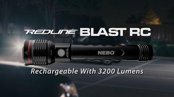 đèn pin sạc điện siêu sáng nebo redline blast rc