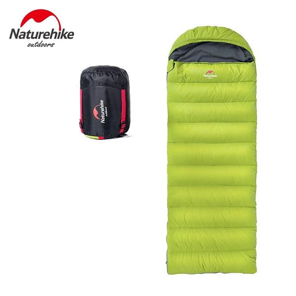 Túi ngủ lông vũ Naturehike D280 màu xanh