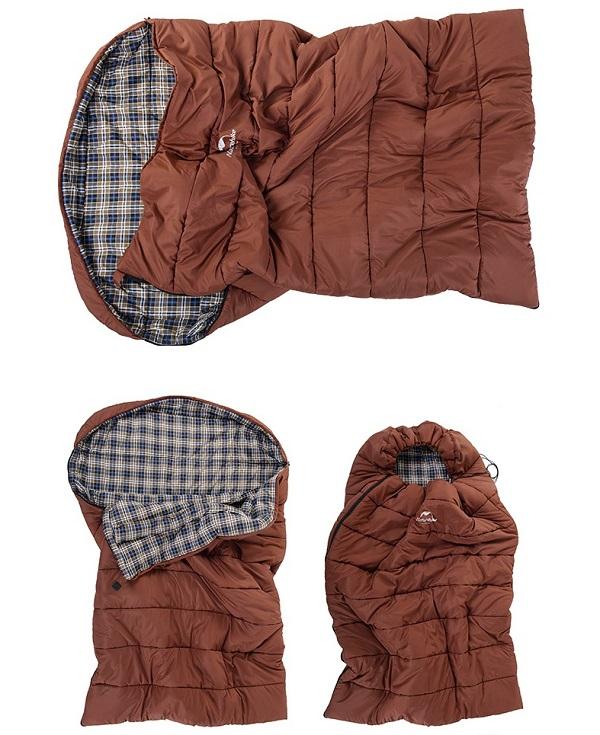 thiết kế túi ngủ Naturehike cho gia đình