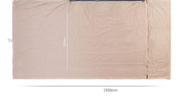 chất liệu túi ngủ cotton mỏng naturehike nh15s0120-d