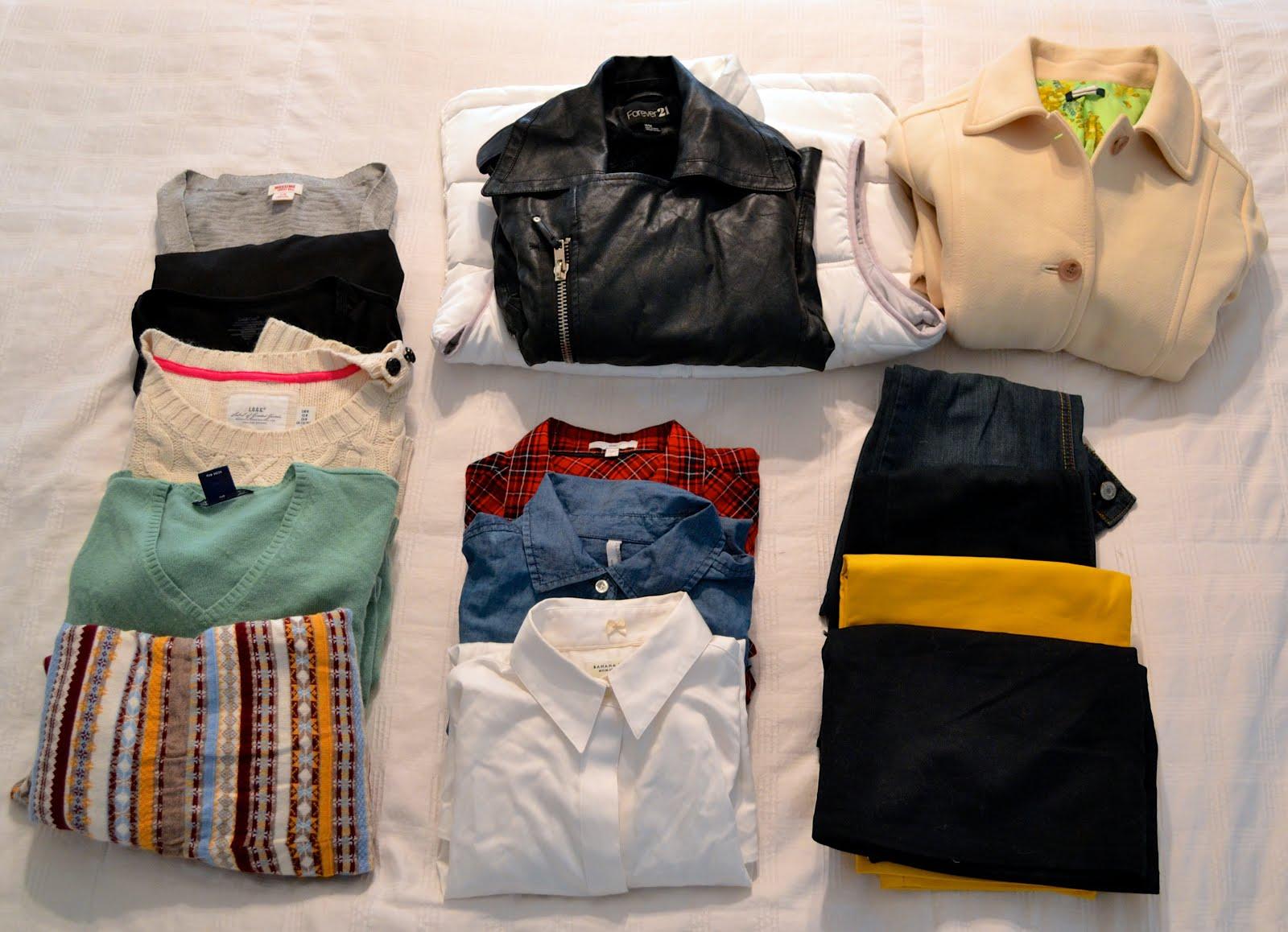 Chuẩn bị quần áo đi du lịch