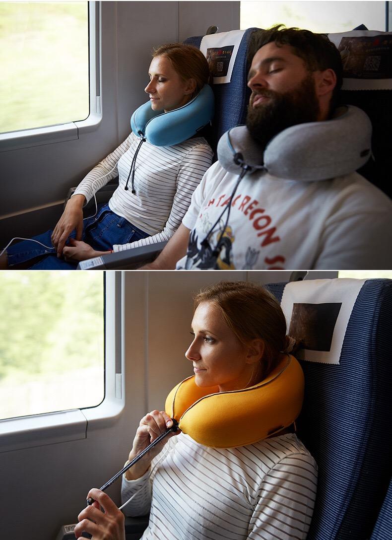 dùng gối massage cổ khi đi máy bay sẽ rất phù hợp