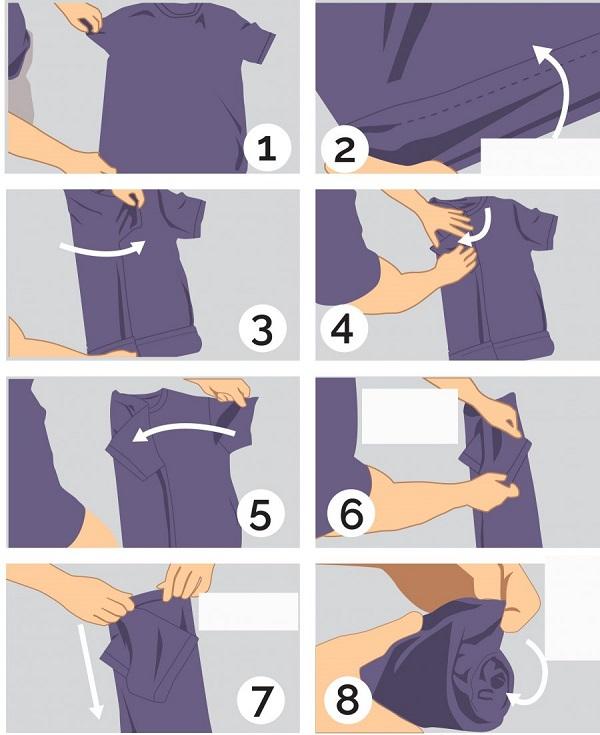 Cách xếp gọn hành lý xách tay cho bạn