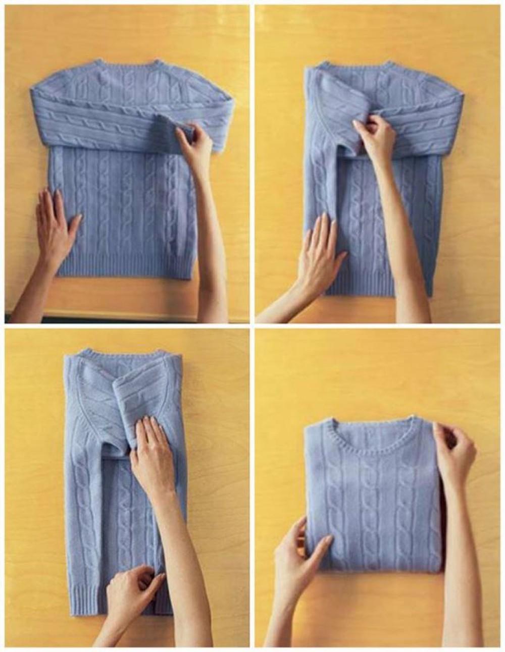 Cách gấp áo sơ mi không bị nhăn