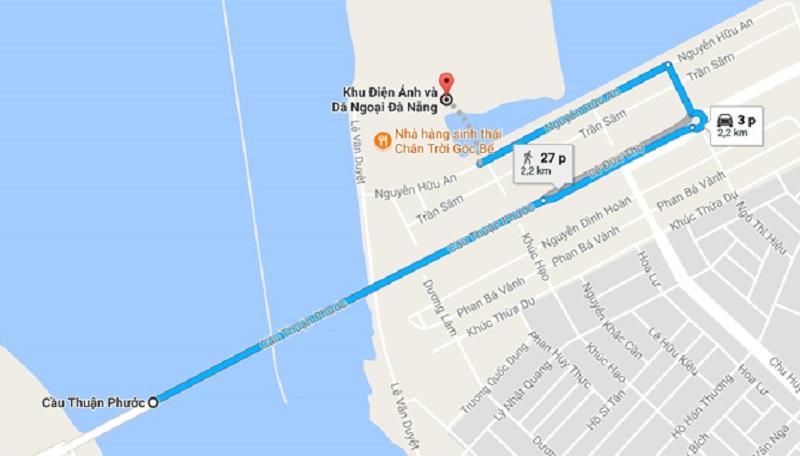 Bản đồ đi Thuận Phước Field