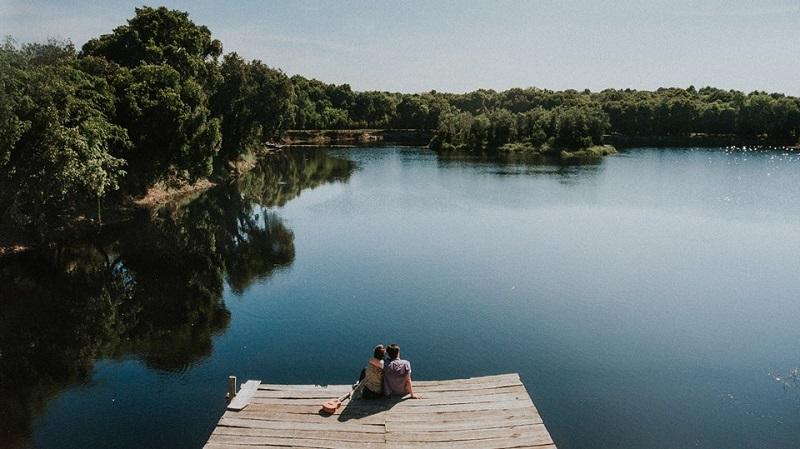 Khung cảnh Hồ Tràm lãng mạn nhìn từ trên cao