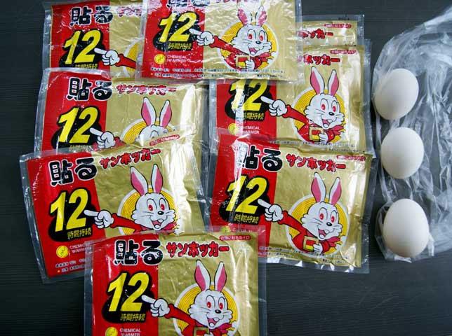 Những miếng dán giữ nhiệt hình thỏ trắng