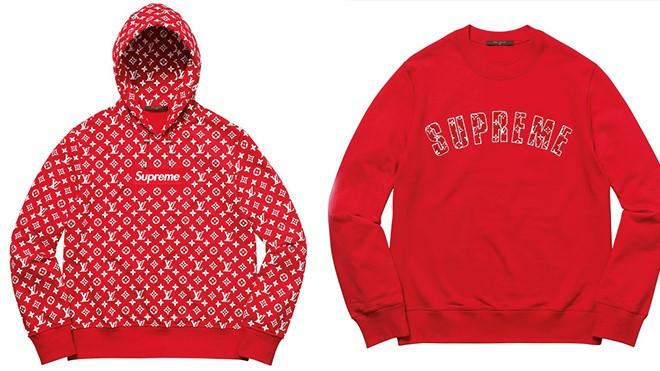 kết hợp giữa 2 logo của supreme và Louis Vuiton