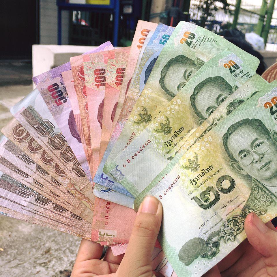 Các loại tiền giấy Thái Lan