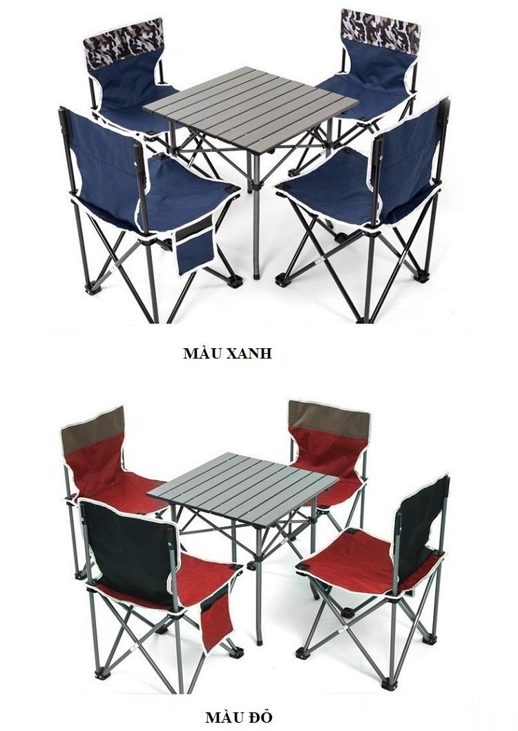 Bộ bàn ghế xếp du lịch Roticamp RTC6801 (4 ghế, 1 bàn)