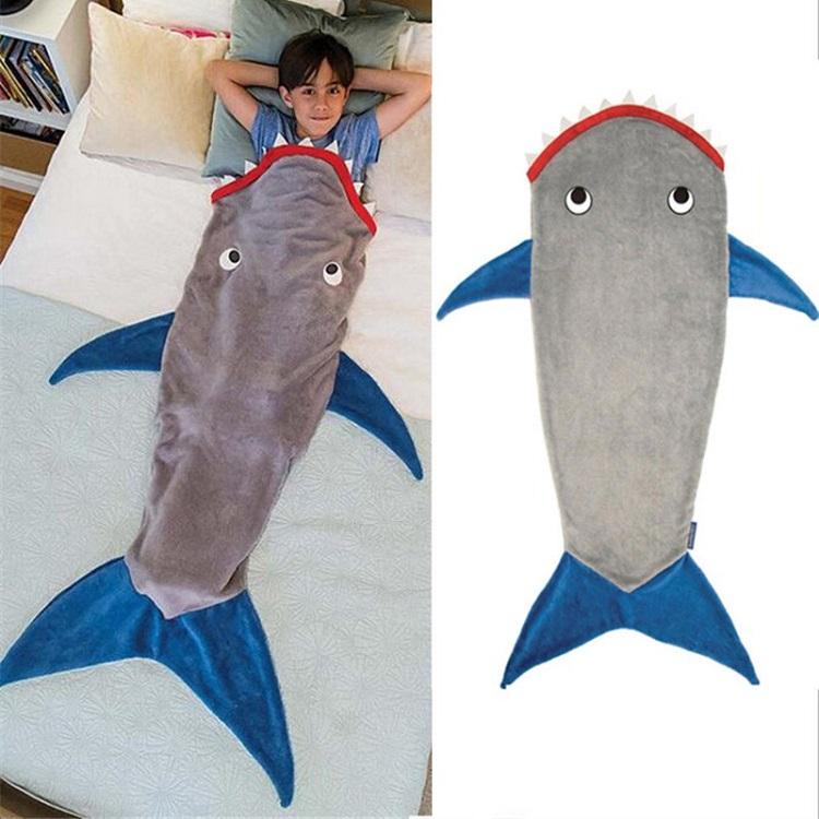 Túi ngủ hình thú Shark Velvet Flannel