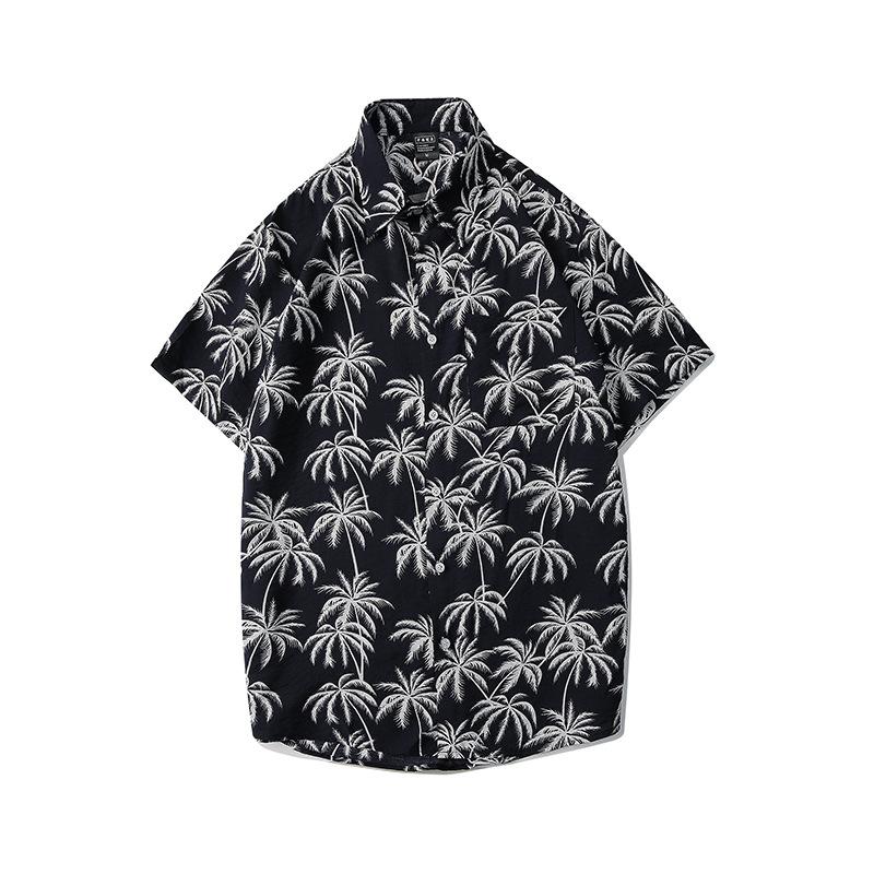 áo màu đen có họa tiết cây dừa đi biển