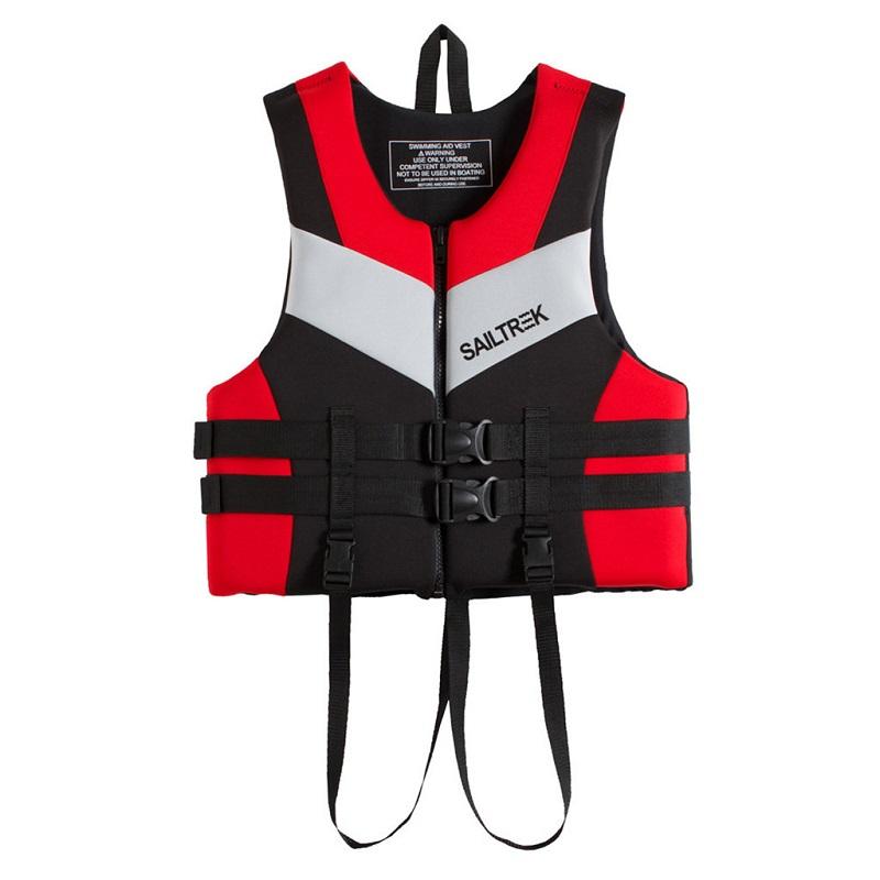 Cận cảnh thiết kế của áo phao bơi người lớn trẻ em Sailtrek I Đỏ