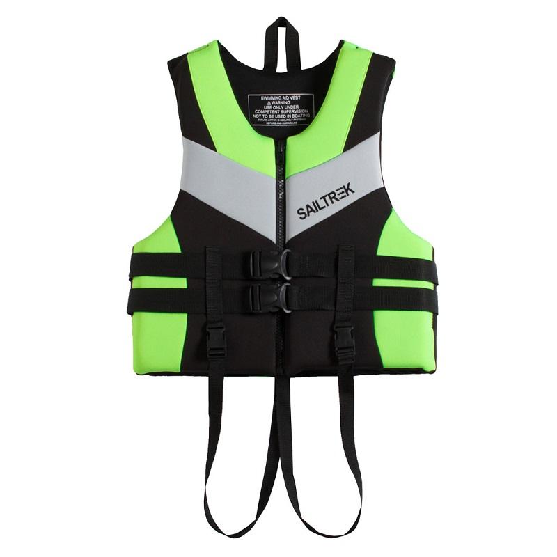 Cận cảnh thiết kế áo phao bơi người lớn trẻ em Sailtrek I Xanh Cốm