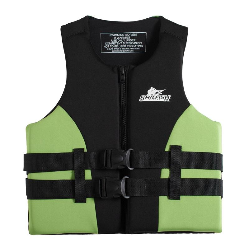 Cận cảnh thiết kế áo phao bơi cao cấp Sailfish Xanh Cốm
