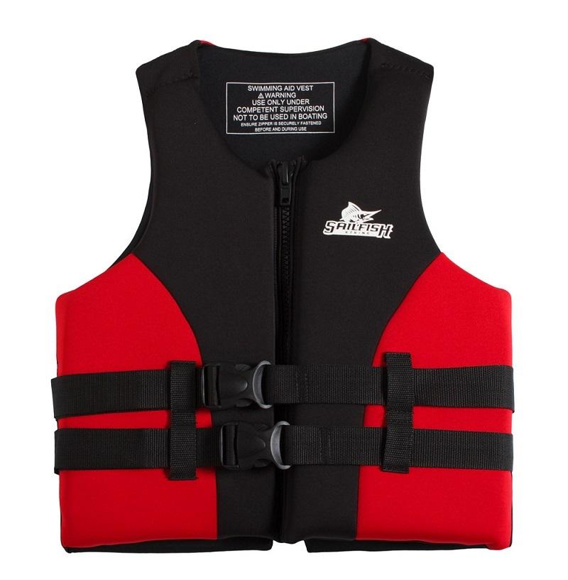 Thiết kế mặt trước của áo phao bơi Sailfish Đỏ
