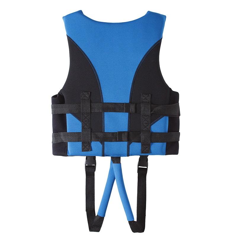 Thiết kế mặt sau của áo phao bơi cho bé trai Scubatrek Xanh Blue