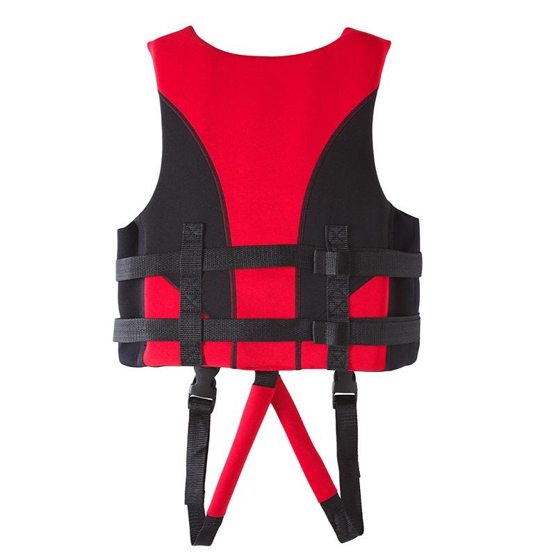 Mặt sau của áo phao bơi trẻ em tập bơi Scubatrek Đỏ