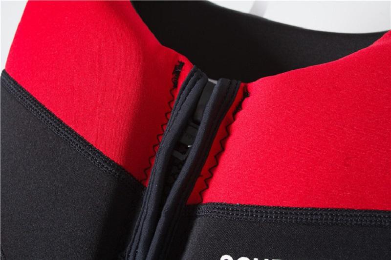 Chất liệu cao su Neoprene của áo phao bơi trẻ em tập bơi Scubatrek Đỏ