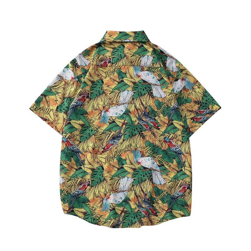 Mặt sau của áo sơ mi đi biển Sear vàng 1128