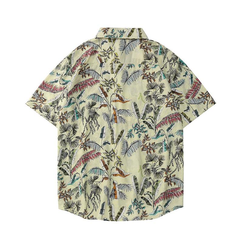 Mặt sau của áo sơ mi đi biển nam Sear vàng 1130