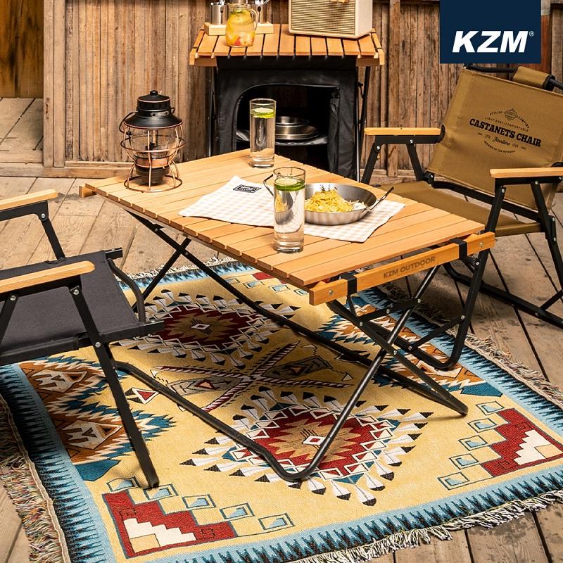 Bàn gỗ chân xếp gấp gọn Kazmi K20T3U014
