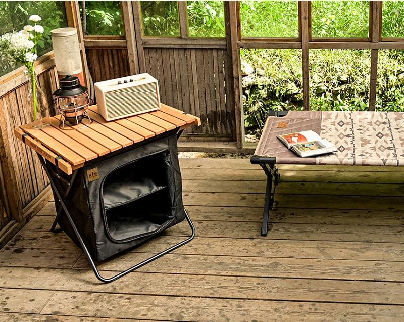 Bàn gỗ xếp thông minh kèm tủ gấp gọn Kazmi K20T3U015