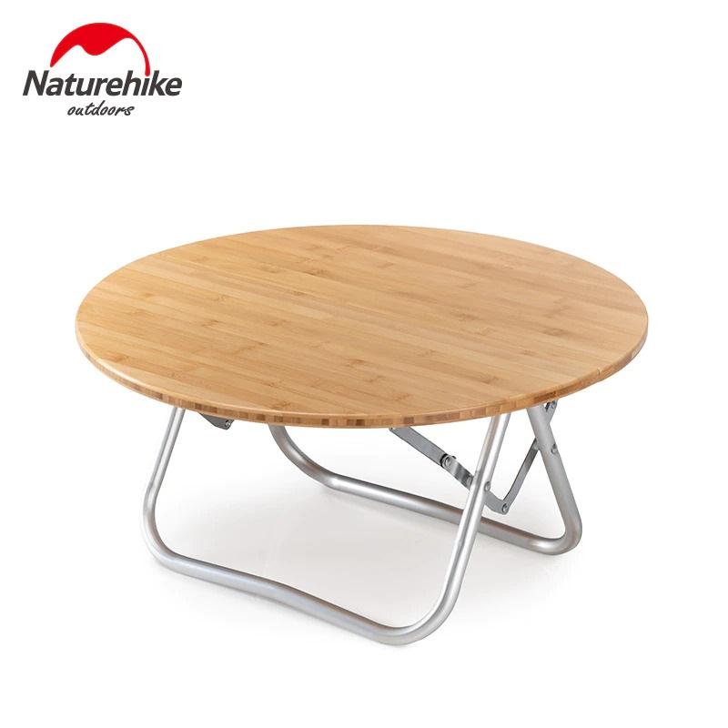 Bàn tròn gỗ xếp gấp gọn du lịch Naturehike NH19JJ003