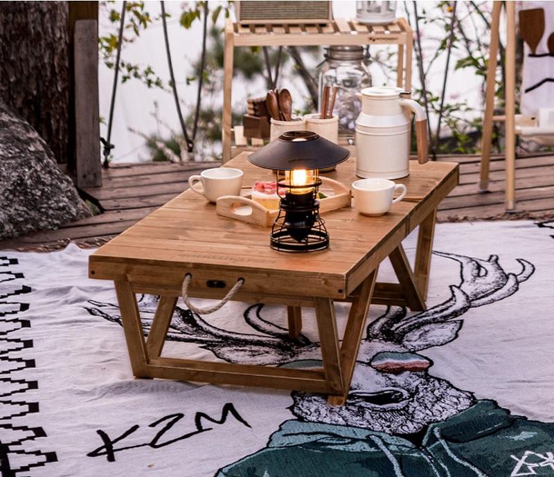 Bàn xếp gỗ mini nhỏ gọn du lịch, dã ngoại Kazmi K21T3U01