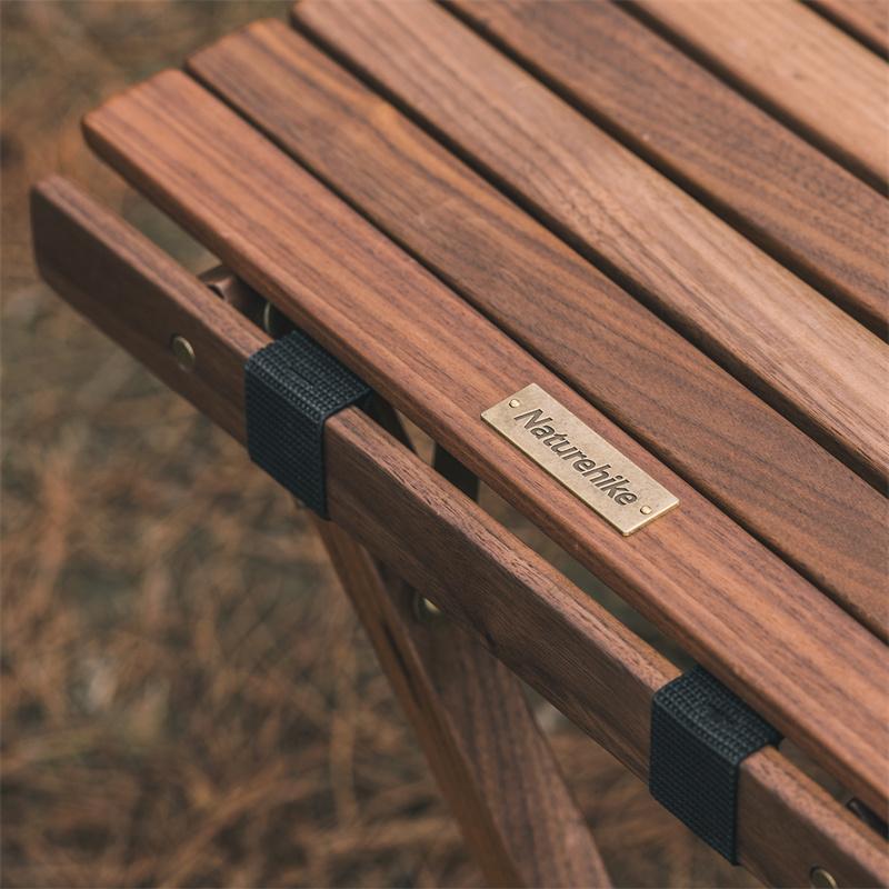 Bàn xếp gỗ dã ngoại, du lịch cuộn nhỏ gọn Naturehike