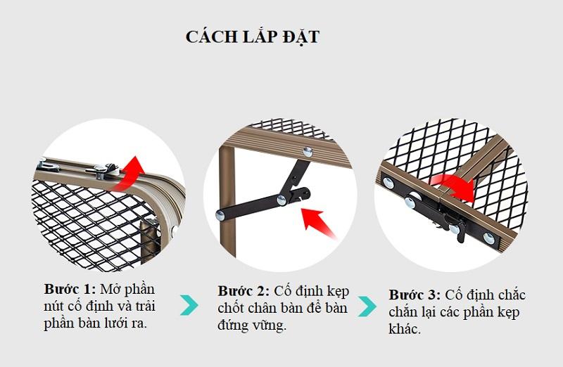 Cách sử dụng Bàn xếp ngoài trời 2 gấp Kazmi K9T3U013