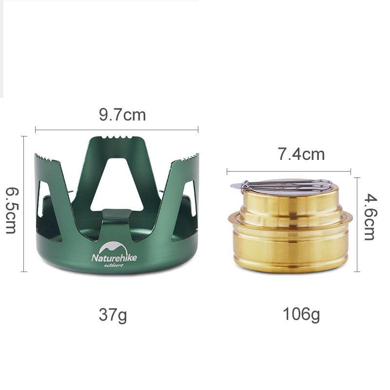 Kích thước của bếp cồn mini Naturehike NH18L001-T