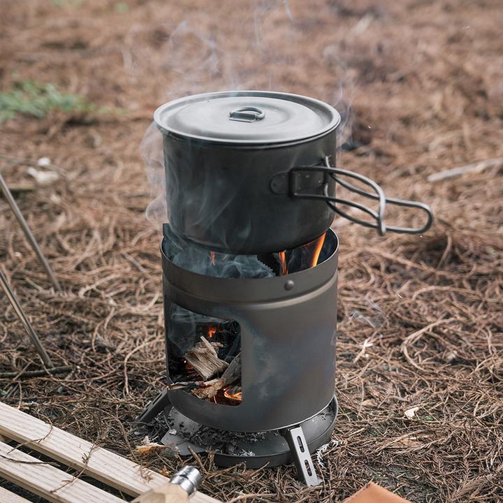 Bếp củi mini Naturehike NH20RJ005 khi đun nấu sẽ rất an toàn và thuận tiện