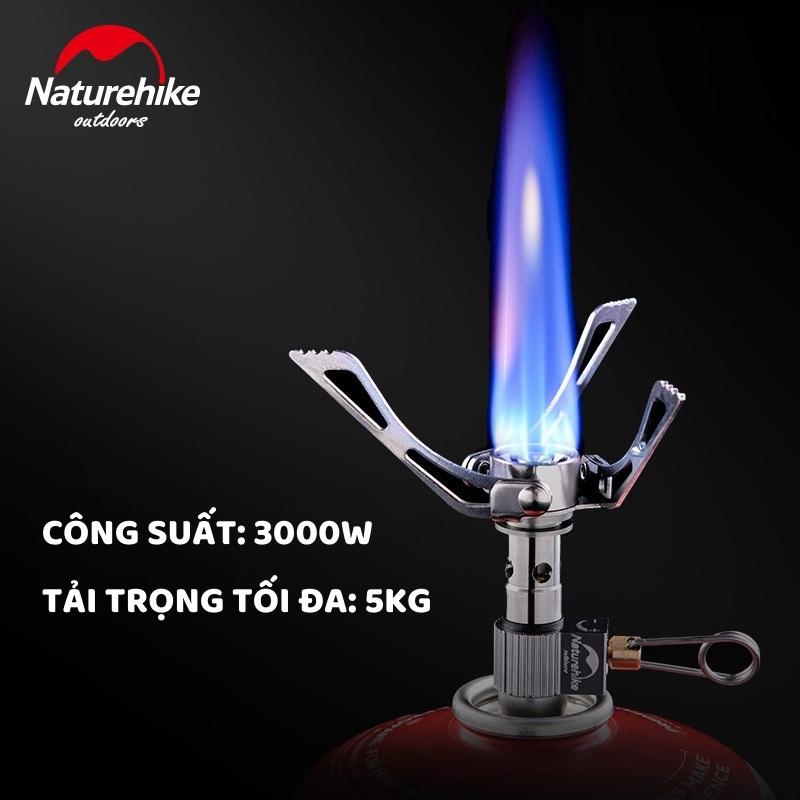 Người dùng có thể điều chỉnh nhiệt lượng khi sử dụng bếp ga mini du lịch gấp gọn được NatureHike NH17L035-T th