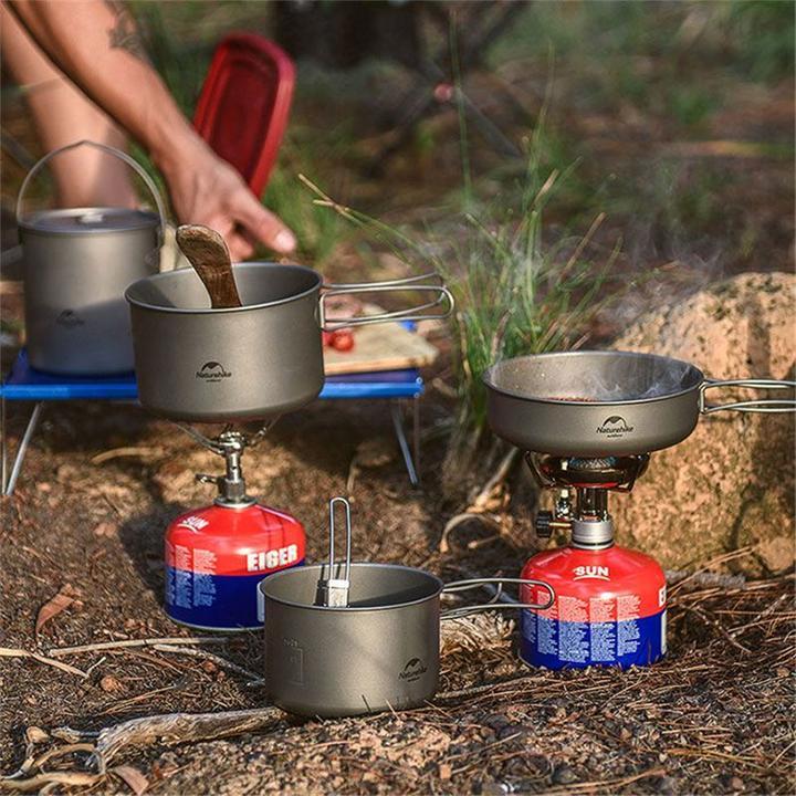 Bộ nồi dã ngoại Naturehike 5 chiếc NH18T101-A rất thích hợp dùng để nấu ăn ngoài trời