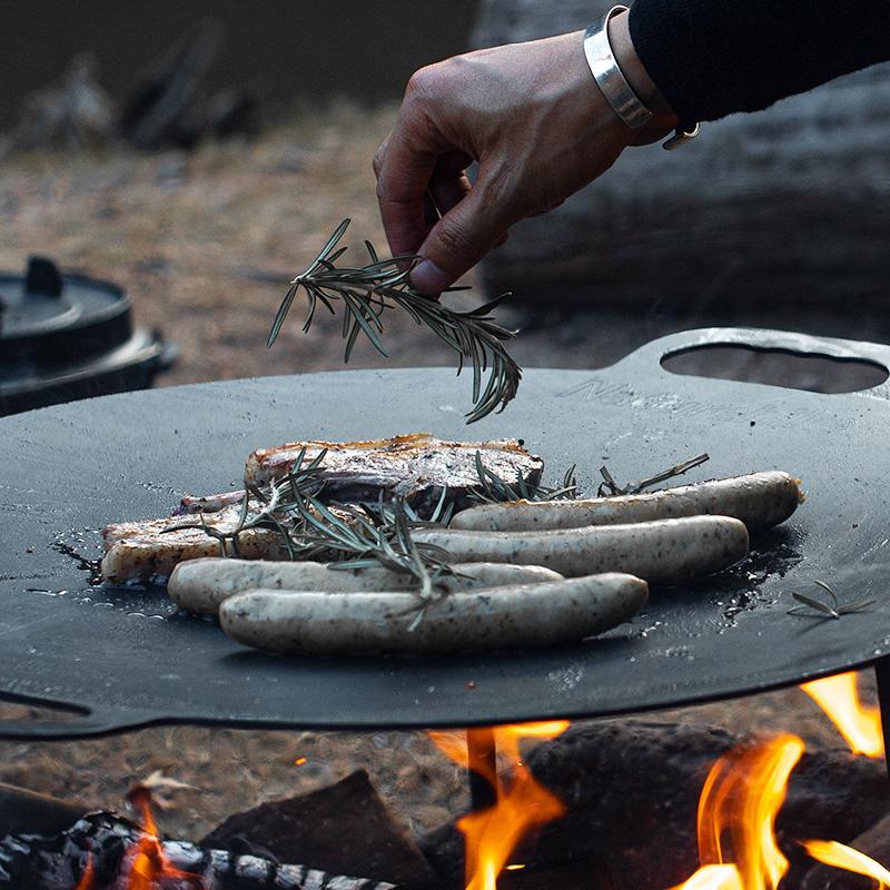 Chảo gang nướng thịt chống dính du lịch, dã ngoại Naturehike NH20SK003