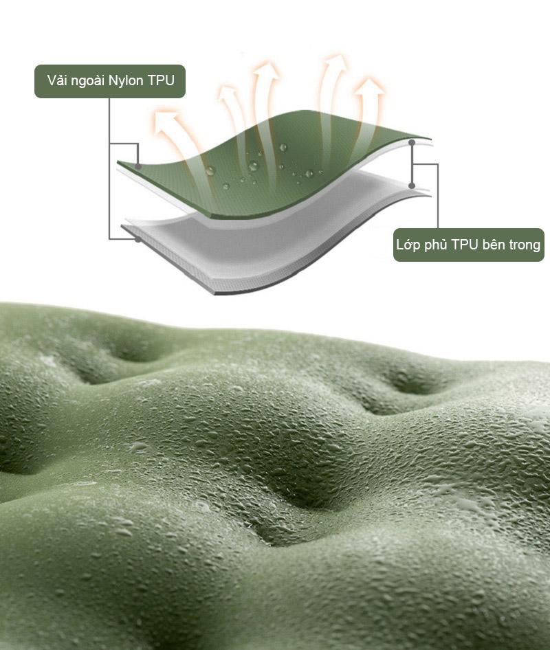 Chất liệu 40D Nylon TPU cao cấp, khả năng chống nước và độ đàn hồi tốt