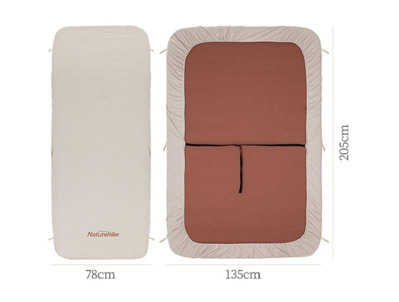 Kích thước sử dụng là 205cm * 135cm * 10cm