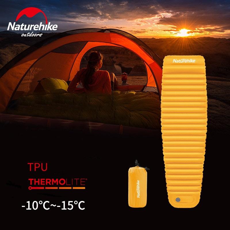 Đệm bơm hơi du lịch Naturehike NH18Q002D màu vàng